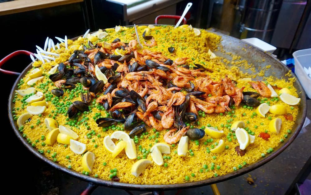 Paella from Borough Market