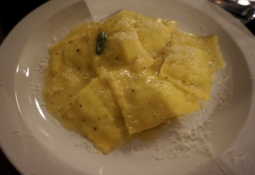 Ravioli of ricotta with sage butter