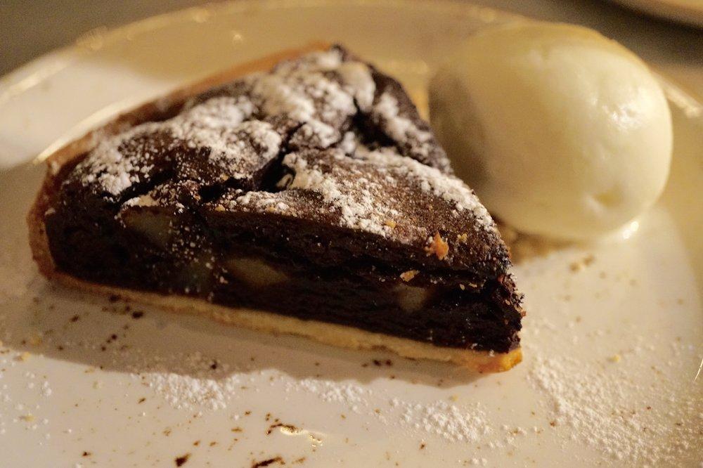 Chocolate and pear tiramisu